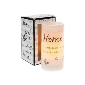 Warm Words HOME Flicker Wax Candle Butterfly Verse Flameless Led NEW HOME GIFT
