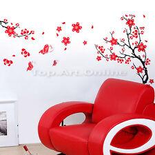 Sticker Mural Muraux Fleur Papillon Décoration Autocollant Salon Chambre