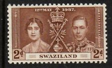 SWAZILAND 1937 2d BROWN CORONATION Lightly Mounted Mint