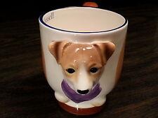 JACK RUSSEL Dog Porcelain Coffee Mug Cup Ceramic Figurine Quality DNC Arcadia