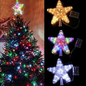 Large LED Light Up Christmas Tree Topper Star Tree Party Christmas Decorations