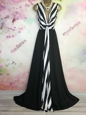 BNWT EZY GRAY MAXI/FULL LENGTH occasion/evening DRESS SIZE 18-20 black/white