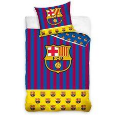 OFFICIAL FC BARCELONA YELLOW BAR SINGLE DUVET COVER SET EUROPEAN FOOTBALL