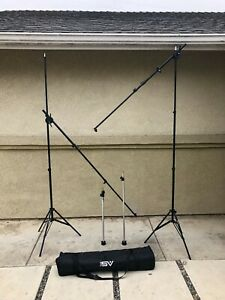 LOT OF PHOTOGRAPHY STUDIO LIGHTING STANDS ARMS & BOOMS IMPACT 3045 SMITH VICTOR