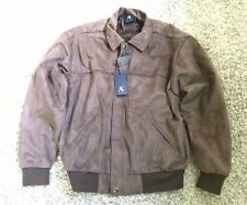 Men Designer Brown Suede Jacket - Large Size