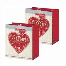 Pack 2 Noël Petit sac cadeau 26.5cm x 21.5cm x 10cm - Saison saison