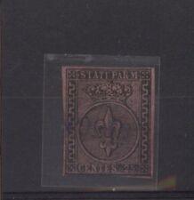 PARMA 1852  GIGLIO BORBONICO 25 CENT. SASSONE NR. 4 VAL. €.400,00 USATO (621)