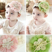 KE_ Cute Lace Flower Kids Baby Girl Toddler Headband Hair Band Headwear Access