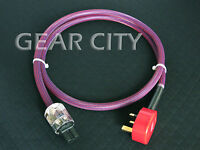 cpvmk 1.5m 5ft 12mm UK Mains Power OFC Cable Shield Cord MK IEC Plug Amp HiFi