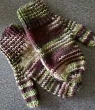 Home-made Womens' Mittens ~ Brown/Green/Tan in Color ~ 9.5