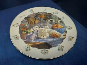 Vintage Collector's Plate For Cat Lover's Collection Beautiful!