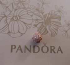 New PANDORA ROSE GOLD Pavé Ball Charm 781051CZ  sparkling Cubic Zirconia stones