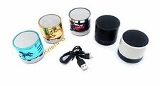 Portable Mini Bluetooth Speaker With FM USB AUX MicroSD Slot With LED Lights
