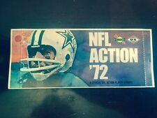 1972 SUNOCO NFL ACTION STAMP PACK