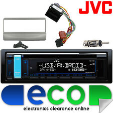 Ford Escort 96-00 JVC STEREO AUTO CD MP3 USB VOLANTE Interfaccia Kit ARGENTO