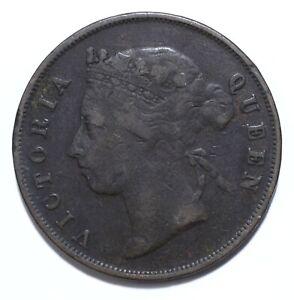 1890, Mauritius, 5 Cents, Victoria, Bronze, gF, KM# 9, Lot [2124]
