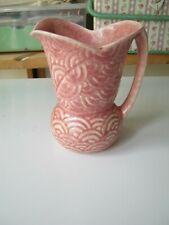 Vintage pink jug made by Shorter & Son: Art Deco