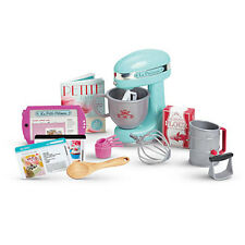 NEW American Girl Grace GRACE'S Doll BAKING SET COMPLETE Mixer Tools Cookbook