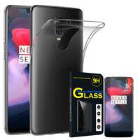 """Etui Coque Silicone Gel UltraSlim pour OnePlus 6 6.28"""" + Film Verre Trempe"""