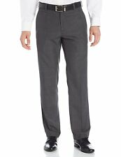 New KENNETH COLE Mens W36x32L Glen Plaid Dress-Casual Pants Flat Front Dark Gray