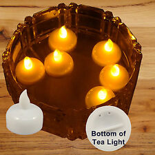 36 pcs Amber Led Tea Light Flameless Floating Candles Wedding Party Romantic