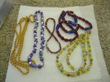 "Lot/3 Various Long Necklaces - 52"", 22""', 32"" and two 16"" - Total of 5"