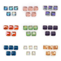 Bulk 14mm Faceted Colorized Glass Crystal Charms Square Loose Beads DIY Findings