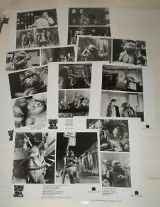 1990 TEENAGE MUTANT NINJA TURTLES LOT of 9 PROMO MOVIE PHOTOS JUDITH HOAG