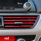 10 Pcs Car Accessories Red Auto Air Conditioner Air Outlet Decoration Strip New photo