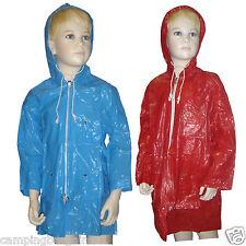 NEW KIDS PVC Hood Waterproof Raincoat Jacket  Boy and Girl Front Zip Size 2 3 4