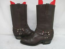 Rango Brown Leather Harness Motorcycle Boots Size 9.5 D