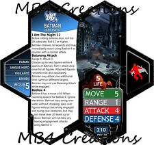 Heroscape Custom DC Batman Figure With  Double-Sided Card!