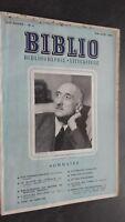 Rivista Biblio Francois Mauriac Maggio Giugno 1951 N°5 ABE