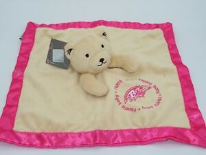 Baby Fanatic Baltimore Ravens Security Blanket Pink Cream Teddy Bear Girls NFL
