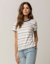 Tilly's RVCA Recess Blue White Stripe Tee (Size XS)
