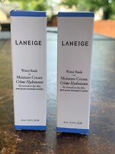 2x Laneige Water Bank Moisture Cream .2oz Each, Travel Sz - New in Box,Free Ship