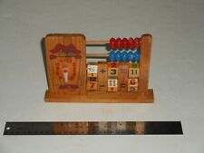 Vintage 1950's Wooden Child's Abacus Toy
