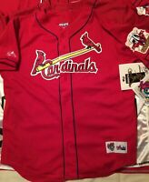 ST. LOUIS CARDINALS MARK MCGWIRE 70th HOME RUN CHAMPION  Large RED MESH JERSEY