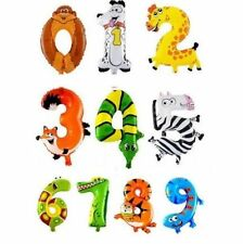 Number Party Foil Balloons