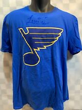 St Louis BLUES Hockey NHL Mascot LOUIE Autograph T-Shirt Size XL