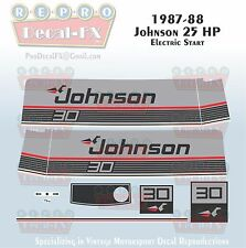 1986 Johnson 30 HP Electric Start Sea-Horse Outboard Reproduction 11 Pc Decals