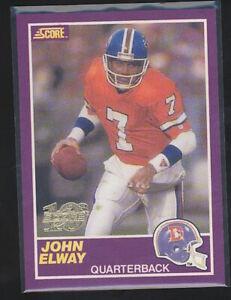1999 Score JOHN ELWAY 10th Score Purple 677/1989 #339S Denver Broncos