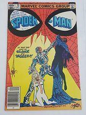 peter parker ,spectacular spiderman # 70 newstand edition - cloak & dagger