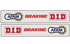 Swingarm Motocross Graphic Sticker Logo Adhesive Decal AFAM DID BRAKING 2 Pcs