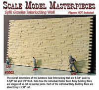 Scale Model Masterpieces/Yorke Split Granite Stone Wall-Interlocking O/1;48