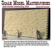 Split Granite Stone Wall-Interlocking-Scale Model Masterpieces Yorke On3/On30