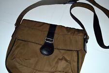 AMERIBAG PURSE SHOULDER BAG NYLON W/ LEATHER DETAIL Light Brown L12