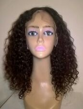 """14"""" 6A Brazilian Virgin Curly Lace Front Wig"""