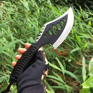 """10.6"""" STAINLESS STEEL CAMPING HATCHET SURVIVAL AXE AND SHEATH OUTDOOR HAND AX"""