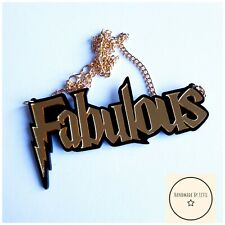 Fabulous Acrylic Necklace🌟 gold black ⚡Large⭐ Quirky are you FABULOUS ✔